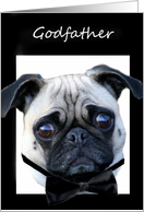 Godfather Thank You for being my Best Man Pug card