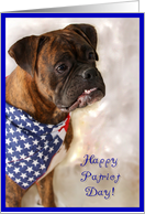 Happy Patriot Day Patriotic Boxer Dog card