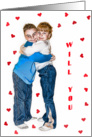 Will You Be My Valentine - Kids card