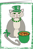 St. Patrick's Day (cat) - General card