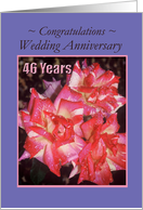 Wedding Anniversary - 46 years - Roses card