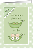 Peas in a Pod Twins Announcement card