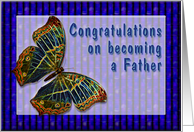 Congrats New Father Cloisonne Butterfly card