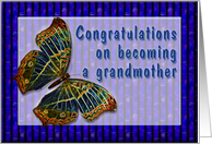 Congrats New Grandmother Cloisonne Butterfly card