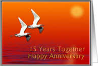 15th Anniversary Journey Together card