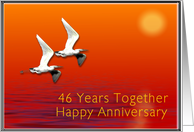 Happy 46th Anniversary, Journey Together card