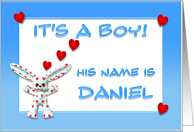 It's a boy, Daniel card