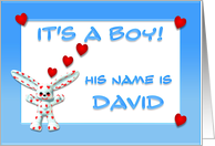 It's a boy, David card