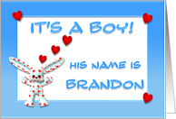 It's a boy, Brandon card