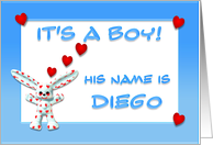It's a boy, Diego card