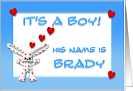 It's a boy, Brady card