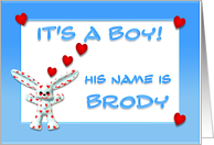 It's a boy, Brody card