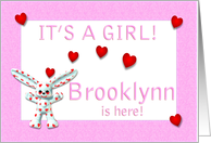 Brooklynn's Birth Announcement (girl) card