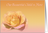 Beautiful Child Birth Announcement card
