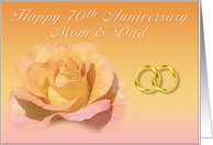 70th Anniversary Mom and Dad card