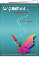 Getting MBA Degree Congratulations card