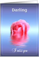 Floating, drifting missing you Darling card