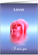 Floating, drifting missing you Lover card