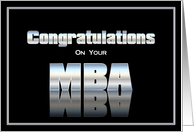 MBA degree Congratulations card