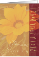 Blessing Ceremony Invitation -Organic Look- card
