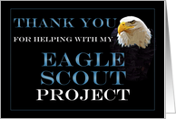 Thank You for Supporting Eagle Scout Project card