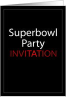 Superbowl Party Invitation card