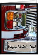 Happy Father's Day, Fire Engine card