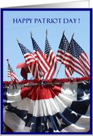 Happy Patriot Day Birthday American Flags card