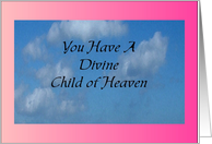 Divine Child Adoption Congrats card