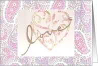 Love Heart Wedding/Engagement Thank You card