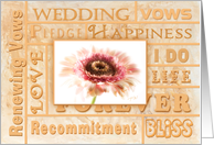 Wedding Renewal of Vows Inviation - Peach floral card