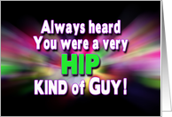Get Well - Hip Surgery - Colorful Rays - (Guy) card