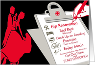 Hip Replacement Operation card