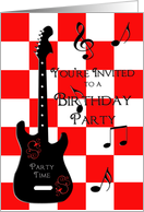 Birthday Party Time Teen card