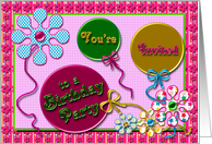 Birthday Party Girl card
