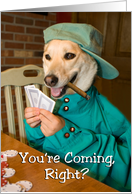 Poker Invitation - Dog Playing card