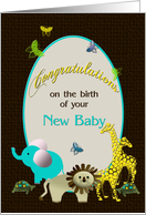 Congratulations Baby - Animal Kingdom card