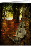 Country Guitar, texture, cowboy Hat card