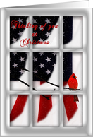 Military Christmas - Thinking of You/Flag card