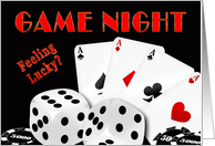 game Night Invitation - Cards, Dice, Chips - Poker card