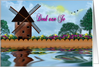 Denk aan Je (Thinking of You) Dutch Windmill card