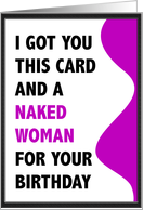 I Got You a Naked Woman card