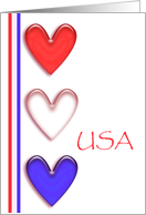 Thank You, Patriotic Hearts card