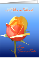 Geometry Teacher Rose in Thanks card