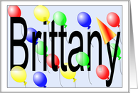 Birthday Balloons for Brittany card