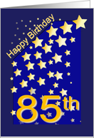 Happy Birthday Stars, 85 card