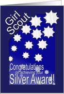 Girl Scout Silver Award card