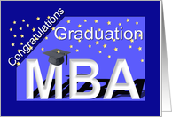Graduation MBA Degree card