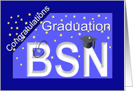 Graduation BSN Degree card