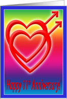 11th Anniversary Hearts in Love, Gay card